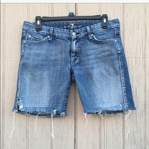 7FAMK Distress Cut Off Shorts
